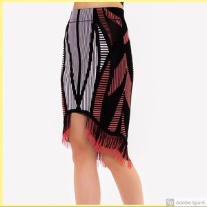 WOW couture Skirts - Multi colour fringe skirt